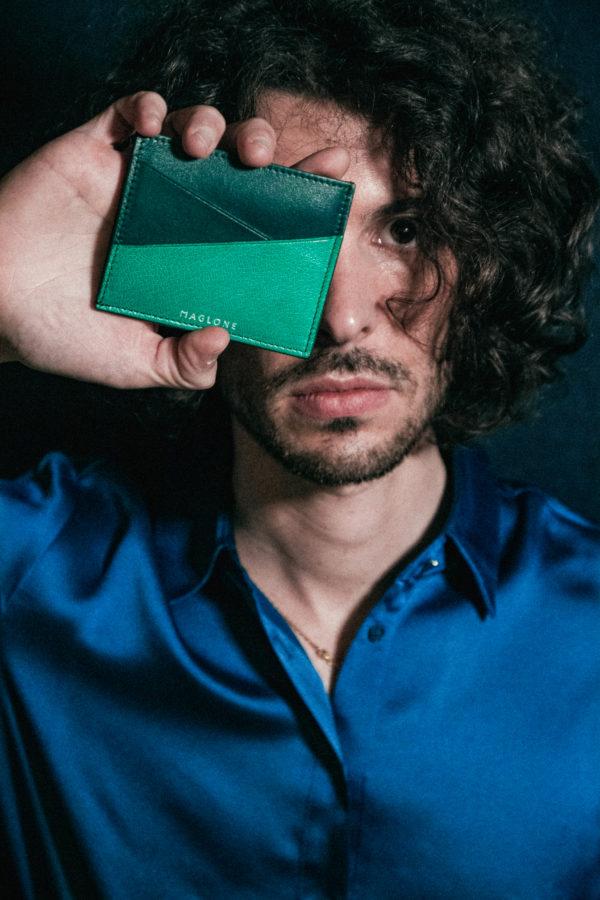 porte cartes joa vert