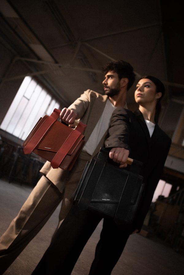 Duo sac mag terracotta noir