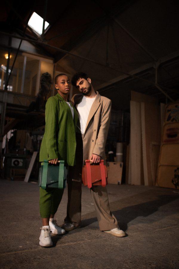Duo sac mag terracotta vert